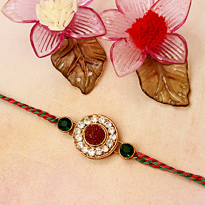 Beautiful Multicolored Stone Rakhi