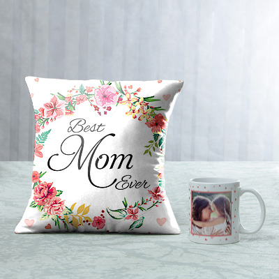 best mom ever cushion and mug combo