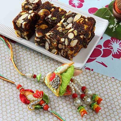 Fancy bhaiya bhabhi rakhi with anjeer dry fruits sugar free sweets fancy bhaiya bhabhi rakhi with anjeer dry fruits sugar free sweets negle Gallery