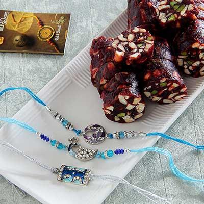 Meena and cz designed rakhi with khajoor dry fruits sugar free meena and cz designed rakhi with khajoor dry fruits sugar free sweets negle Images