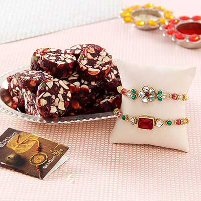 Rakhis with silver plated thali khajoor dry fruits sugar free rakhis with silver plated thali khajoor dry fruits sugar free sweets negle Choice Image