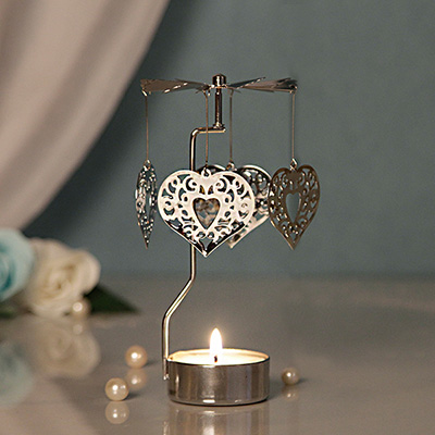 revolving heart tea light candle - Home Decor Gifts
