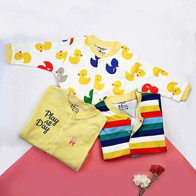 Newborn baby girl gifts gifts for 1 year old girls igp yellow personalized rompers pack of 3 negle Images