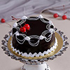 1 Kg Round Chocolate Cake with Cherry Toppings