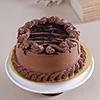 1 Kg Round Chocolate Cake with Chocolate Cream Topping
