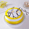 1 Kg Round Pineapple Cake with Cream & Chocolate Topping