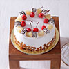 1 Kg Round Pineapple Cake with Pineapple & Cherry Toppings