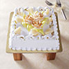 1 Kg Square Pineapple Cake with Cream Flower Toppings