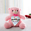 11 Inch Pink Teddy Personalized With 1 Name