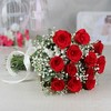 12 Red Roses with Gulab Jamun (Weight : 500 gms)