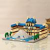 1392 Pcs LE LOUVRE ART MUSEUM Micro Building Blocks Assembly Set