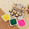 16 Pcs Ferrero Rocher with Holi Gulal