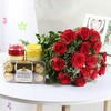 16 Pcs Ferrero Rocher with Roses and Holi Gulal