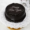 1kg Round Shape Chocolate Cake For New Year