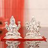 55 Gms Silver Laxmi Ganesha Idol