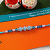 Adorable Blue Beaded Rakhi