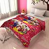 Adorable Pink and Crimson Cartoon Print Kids Blanket