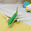 Alloy Airplane Simulation Model Toy Green