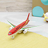 Alloy Airplane Simulation Model Toy Red