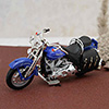 Alloy Motorcycle in Blue
