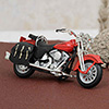 Alloy Motorcycle in Red