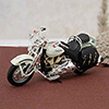 Alloy Motorcycle in White