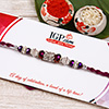 Alluring Crystal Beaded Rakhi