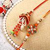 Alluring Pearl and Crystal Beaded Bhaiya Bhabhi Rakhi