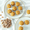 Almond Roasted & Salted Can with Half Kg Besan Laddoo