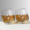 Anchor Personalized Spinning Whisky Glass Set of Two