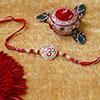 Antique Om Beads Rakhi