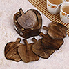 Apple Shaped Wooden Coasters