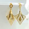 Arabic Style Jaali Work Gold Plated Earrings