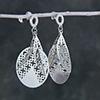 Arabic Style Jaali Work Silver Plated Earrings