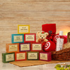 Assorted Khadi Beauty Soap with Rose Sandal Face Wash & Towel Set in Basket