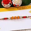 Attractive Crystal Bead Work Rakhi