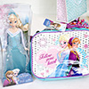 Attractive Disney Themed Pouch with Frozen Sparkle Doll