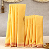 Austere Yellow Colored Dhoti & Stole Set For Men