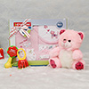 Baby Training Toy With Soft Teddy Bear & Child Care Baby Gift Set