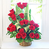 Basket Full of Red Roses (20 Stems) for your Loved Ones