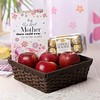 Basket of Apples with 16 Pcs Ferrero Rocher Box & Greeting Card