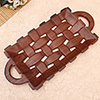 Basket Weave Wooden Tray