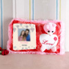 Be my Valentine Personalized Teddy Pillow
