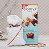 Beads and stones Rakhi with Godiva Milk-Caramel chocolate Bar
