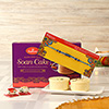 Beads Rakhi with Soan Cake