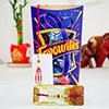 Beautiful Bhaiya Bhabhi Rakhi with Chocolate Pack