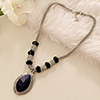 Beautiful Blue-Black Fashion Necklace