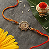 Beautiful Krishna Dial Antique Rakhi