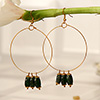 Beautiful Ring Earrings with Green stones