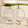 Beautiful Ring Earrings with White stones